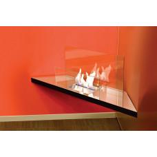 Ethanol fireplace Radius Design Corner Flame