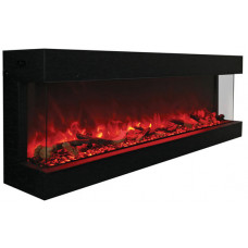 Electric fireplace Amantii 72-TRU-VIEW-XL 3 sided glass