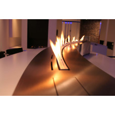 Ethanol fireplace Decoflame Denver Curved e-Ribbon Fire