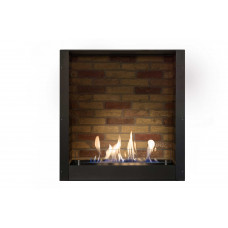 Ethanol fireplace Ruby Fires Built-in Unit L with stone decor