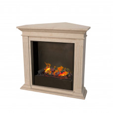 Electric fireplace Ruby Fires Cadiz Corner (fossil stone)