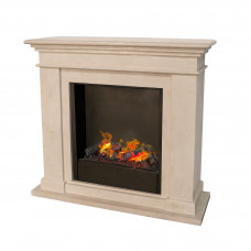 Electric fireplace Ruby Fires Kos (fossil stone)