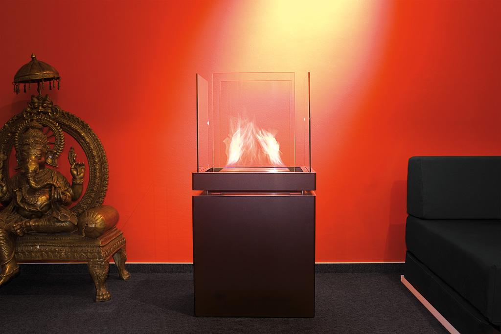 ... Ethanol Kamin Radius Design Semi Flame ...