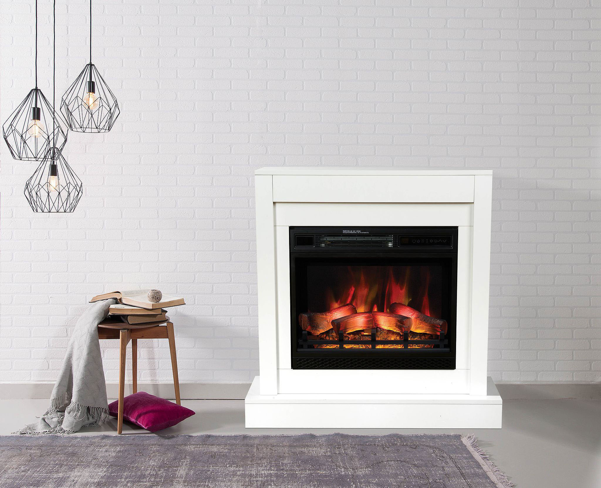 cheminee electrique classic flame milo modern. Black Bedroom Furniture Sets. Home Design Ideas