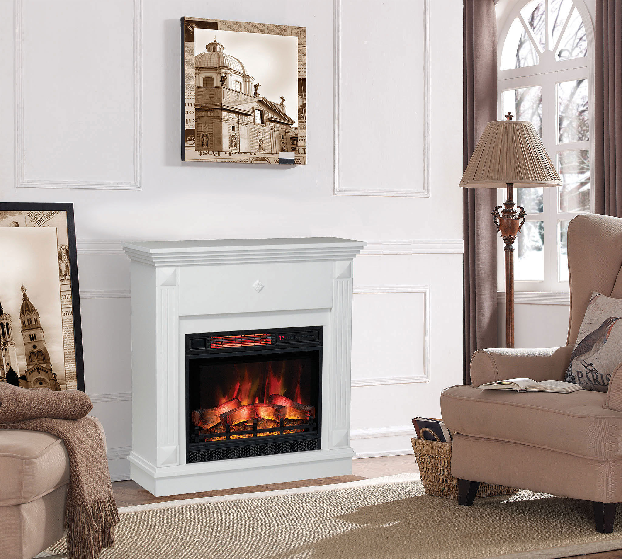 Electric fireplace Classic Flame Ralo • Artflame.com