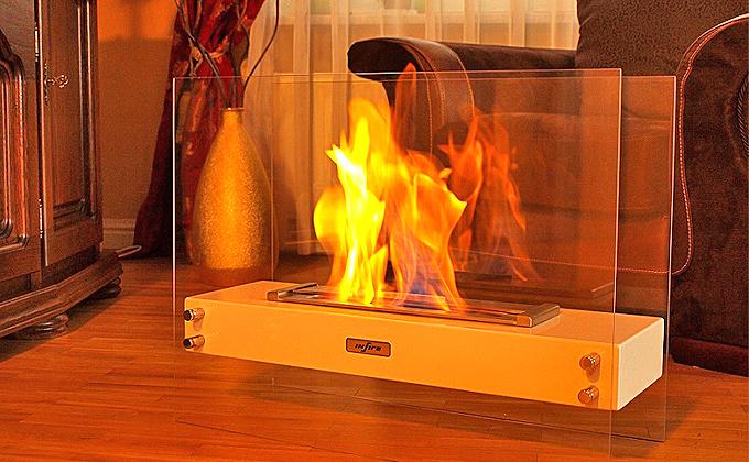 Ethanol fireplace Infire Visio • Artflame.com