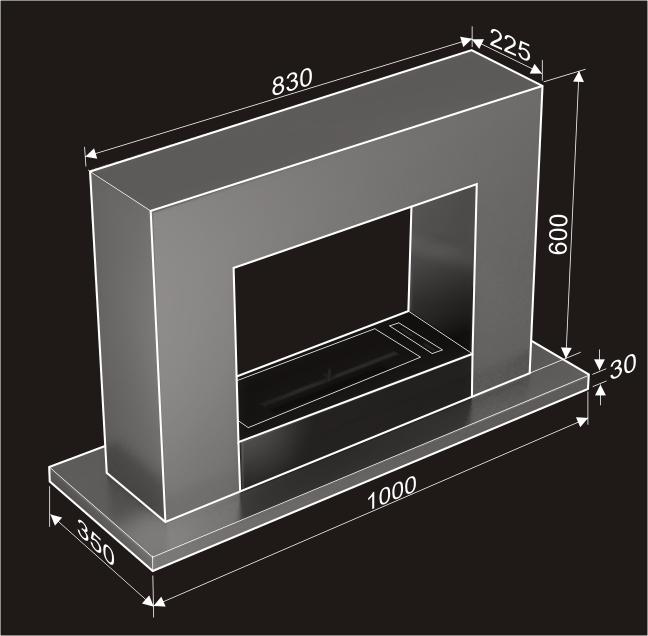 Ethanol fireplace MCJ Radon