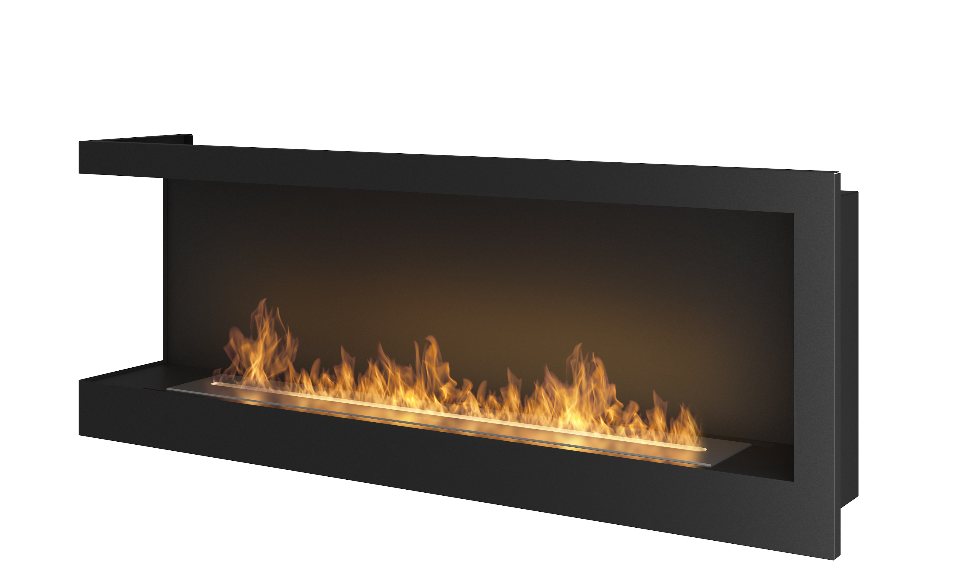 Ethanol Fireplace Simple Fire Corner 1200 L Artflame Com