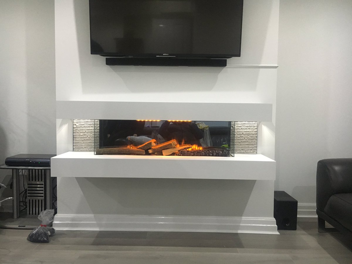 Electric Fireplace Evonic Fires Compton 1000